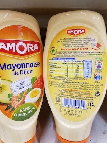 La liste d ingredients Mayonnaise-de-Dijon - Sante d acier