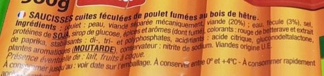 La liste d ingredients des saucisses snackis 2 - Sante d acier