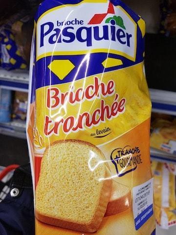 La liste d'ingrédients des brioches Pasquier - Santé d'Acier