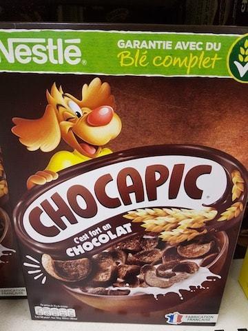 La liste d'ingrédients du chocapic - Santé d'Acier