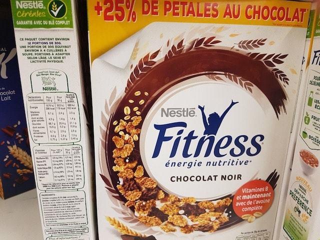La liste d'ingredients des Spécial-K-Chocolat-Noir - Sante d acier
