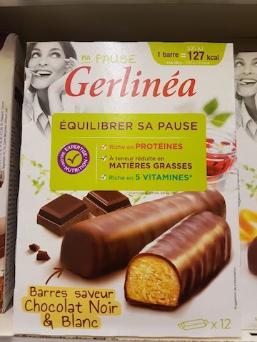 La liste d'ingredients des barres chocolatees gerlinea - Sante d acier