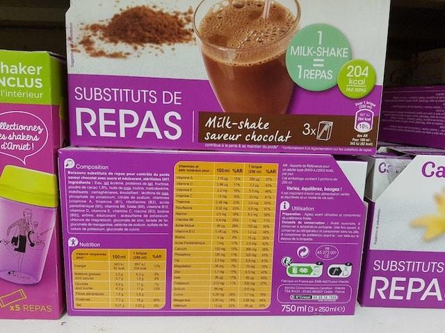 La liste d'ingredients des substituts de repas minceur - Sante d acier
