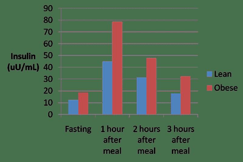 La sécrétion d'insuline chez une personne mince et obèse - sante d'acier